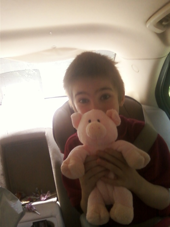 Cole with Piggie 2.0